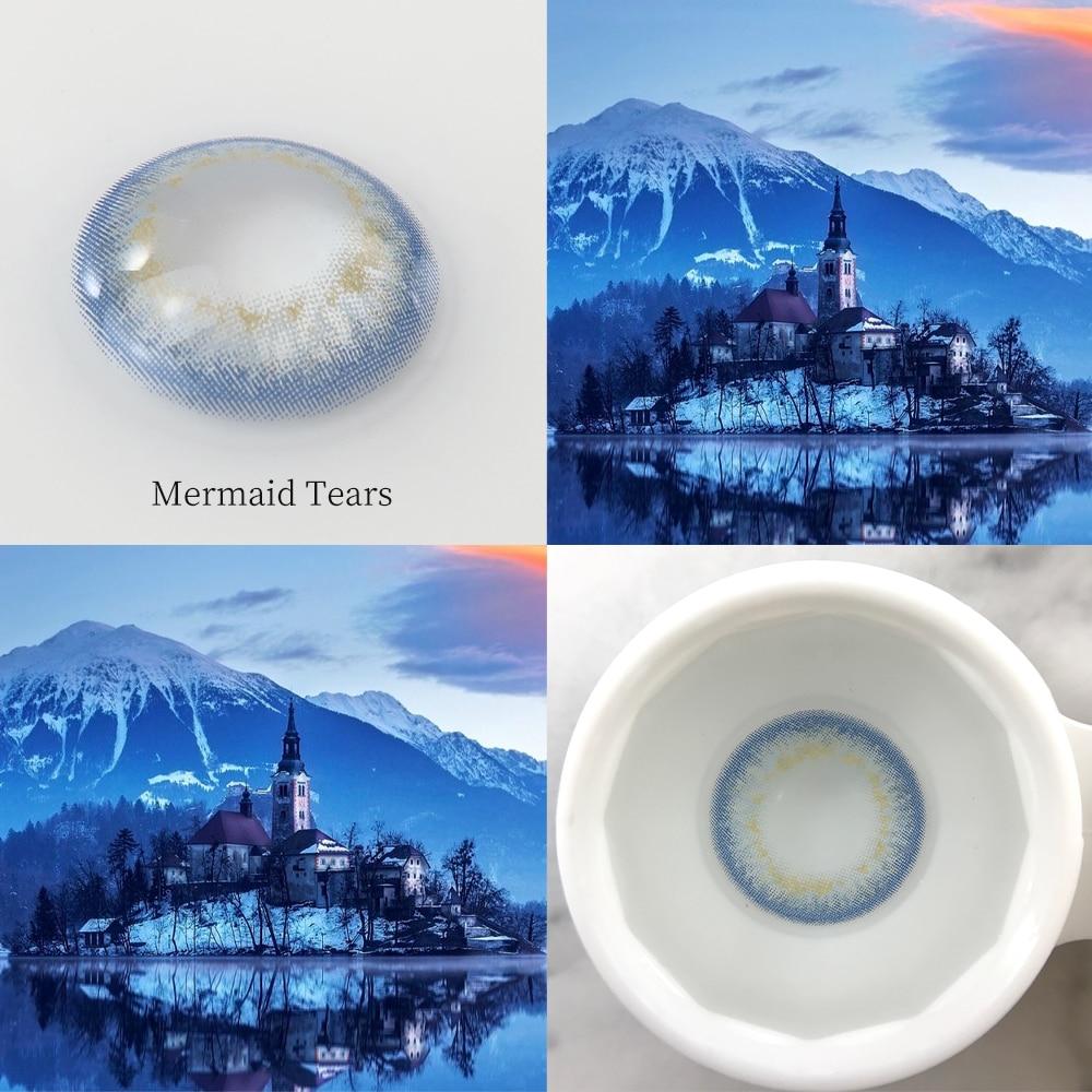 Купить eyewish 2pcs объективы 8 тон серии новые красивые линзы контактные