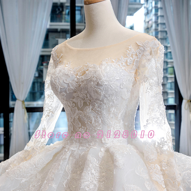 New Arrivals Gorgeous Long Sleeve Beading Lace Wedding Dress China Shop Online Vestido De Noiva Princesa 3