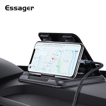 lovely pu cell phone holder w hook for car black red Essager Dashboard Car Phone Holder for iPhone Xiaomi mi Adjustable Mount Holder For Phone in Car Cell Mobile Phone Holder Stand