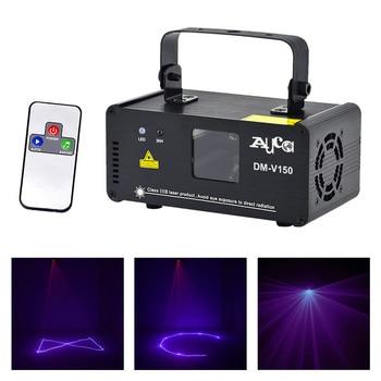 AUCD Mini IR Remote Control 150mW Purple Beam Scan Projector Laser Lights 8 CH DMX Disco DJ Home Party Show Stage Lighting V150 aucd mini 9 patterns r page 8