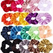 купить Hot Sale Velvet Hair Band Set Girls Women Hair Rope Ponytail  Hair Tie Elastic Hair Bands Hair Accessories Rubber Bands 1 Set по цене 127.66 рублей