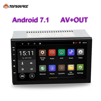 TOPSOURCE 7 Universal 2 din Android Car DVD player GPS+Wifi+Bluetooth+Radio+Quad Core 1024*600 screen car stereo radio 7003 image