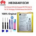 100% Оригинальный аккумулятор для телефона Huawei 3000 мАч HB366481ECW для Huawei Honor 8 /5C Ascend P9 /P9 Lite/ G9 /G9 EVA-L09