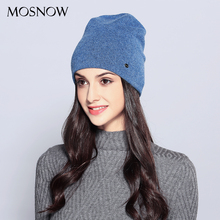 Casual Women's Hats Wool Female Beanies Autumn Winter Brand New Double Layer Thi