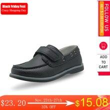 Apakowa zapatos informales clásicos para niño, mocasines de piel sintética, antideslizantes sólidos, para niño pequeño, talla EUR 25 36