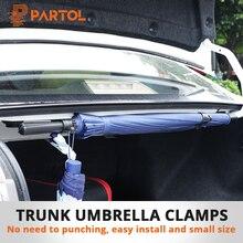 Partol 2 stks/pak Kofferbak Paraplu Beugel Retentie Clips Auto Kofferbak Organizer voor Paraplu Opknoping Haken voor Reizen