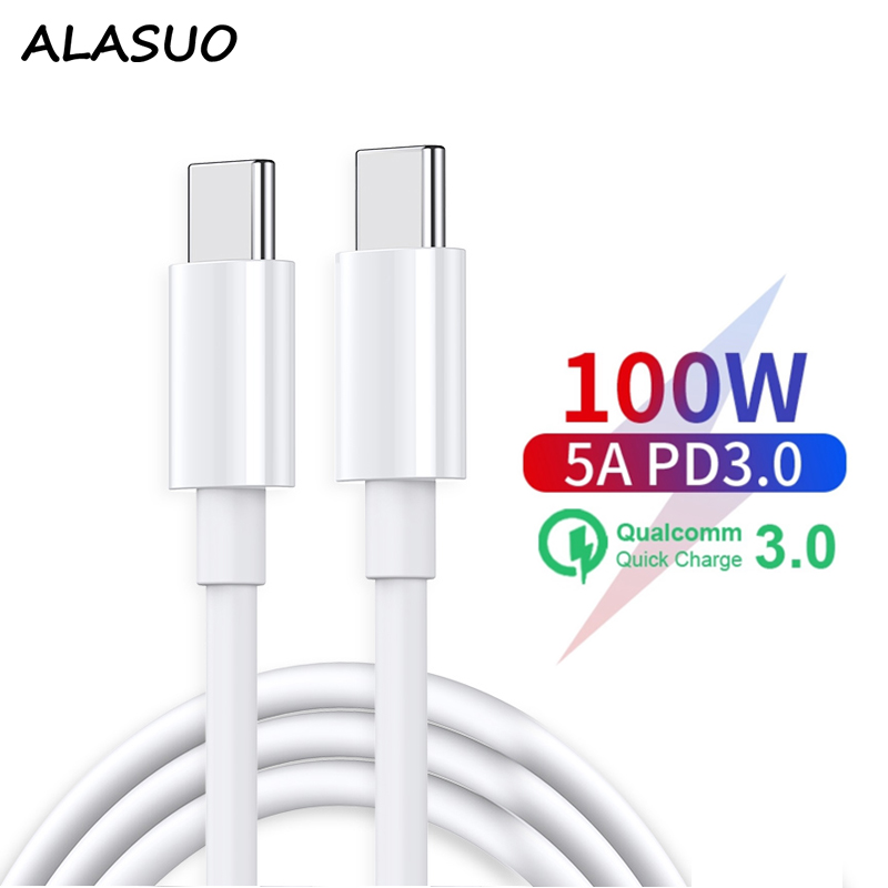 60W 100W Fast charging type-c to type-c <font><b>usb</b></font> <font><b>cable</b></font> for Samsung S10 S9 S8 pro Huawei xiaomi <font><b>Usb</b></font> c <font><b>cable</b></font> for Macbook image