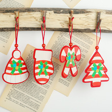 wooden ornaments wood christmas decorations for home новый украшения рождество kerst guirlande led герлянда новогодняя Новогодни декоративные украшения poetry man home decorations 2158c