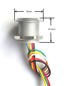 Image 5 - RFID Micro Đầu Đọc Truy Cập Chống Nước IP65 Mini Đầu Đọc Thẻ Wg26 Định Dạng Đầu Ra SN: IButton