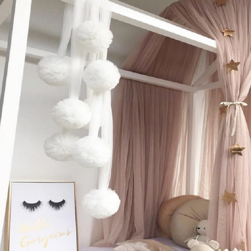 Mosquito Net Ornaments Nordic Wall Hanging Chiffon Ball Pendant Tent Props Toy Kids Christmas Room Decor Gift