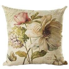 Patrón de flores Vintage funda de almohada sofá cama funda de cojín decorativo funda de almohada moda decorativa exquisita Decorcom