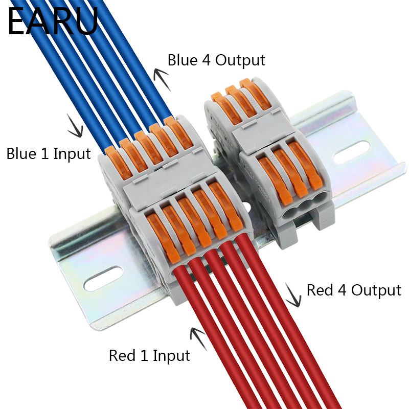 Mini Fast Wire Cable Connectors Universal Compact Conductor Spring Splicing Wiring Connector Push-in Terminal Block SPL-2/3 LED 4