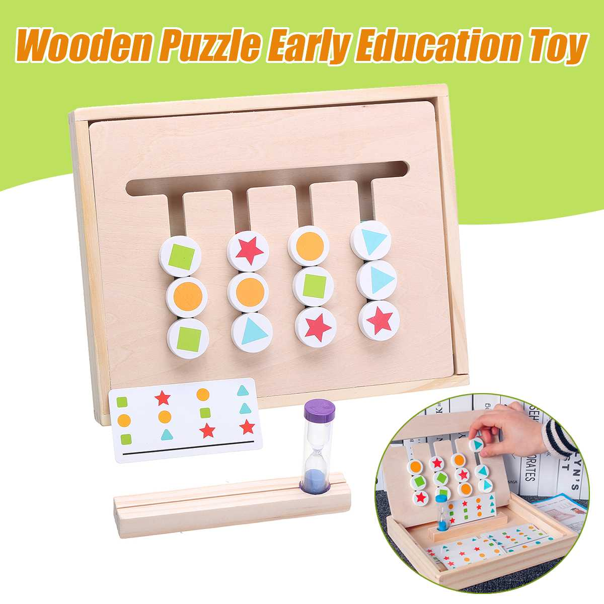 1 Set Montessori Education Four Color Game Wooden Toys Early Learning Toys Children Games Toys Preschool Training Learning Toys