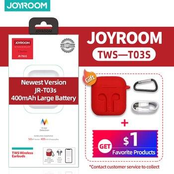 Joyroom T03S Bluetooth Earphone TWS Stereo Earbud Sports True Wireless Earphones In-ear Headsets W/ Mic For All Smart Cell Phone наушники inkd 2 0 in ear w mic street gray chrome