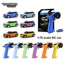 Красочные турбо гоночный RTR мини RC автомобиль 1/76 2,4G задний полностью пропорционального Красочный Светодиодный светильник модели автомобил...