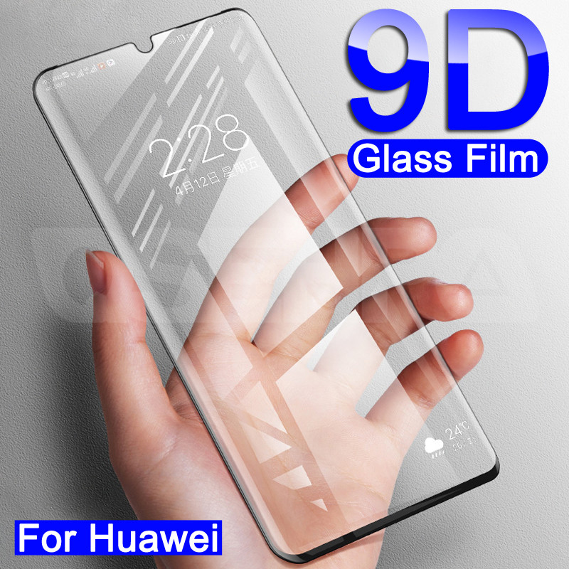 9D Protective Glass For Huawei P40 Lite E P Smart Z 2019 Glass Screen Protector For Huawei Mate <font><b>30</b></font> 20 <font><b>10</b></font> Lite 20X Tempered Glass image