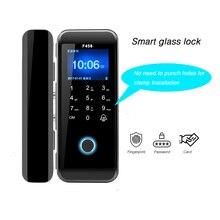 Fingerprint Code Lock Smart Lock Home Security Electronic Door Lock Drilling Free Office Glass Door Lock