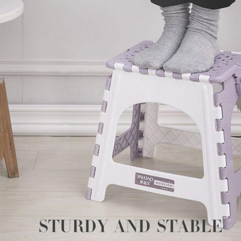Plastic Multi Purpose Folding Step Stool Home Train Outdoor Foldable Storage