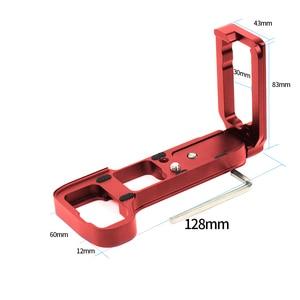 Image 5 - L Plate Bracket Camera Hand Grip Camera Houder Voor Sony A7RIII A7M3 A9 A7R3 Met Wrench Release Grondplaat & Side plaat