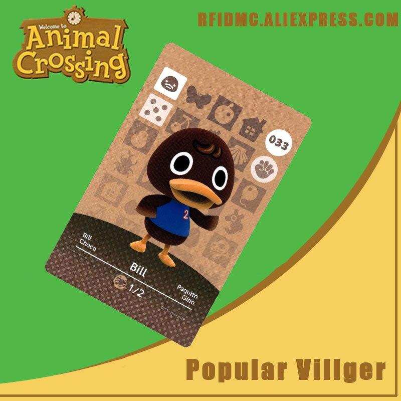 033 Bill Animal Crossing Card Amiibo For New Horizons