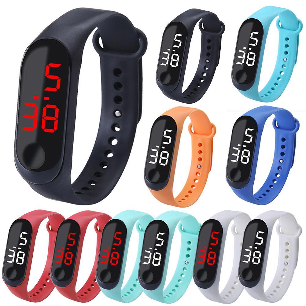 Led Digital Student Sport Watch Pink Silicone Women Watches Boy Brand Men  Wristwatch Children Clock Reloj Mujer New