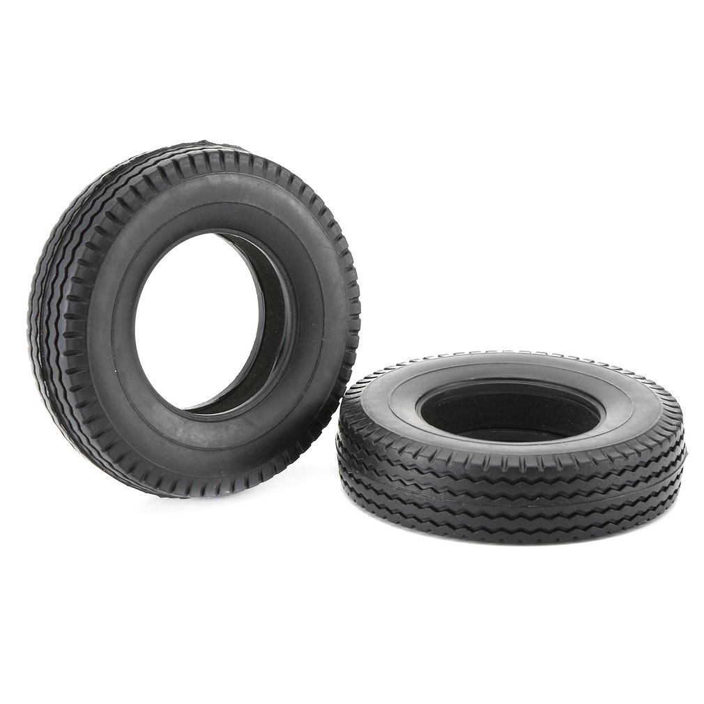 4PCS <font><b>1/14</b></font> <font><b>RC</b></font> Car Rubber Tyre Car Tires for 1:14 <font><b>Tamiya</b></font> Tractor <font><b>Truck</b></font> <font><b>RC</b></font> Climbing Trailer Car Component image