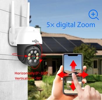 Hiseeu 2MP 3MP 5MP Speed Dome Wireless WIFI Camera 2MP 3MP Outdoor 5x Digital Zoom PTZ IP Camera Audio CCTV Surveillance 2