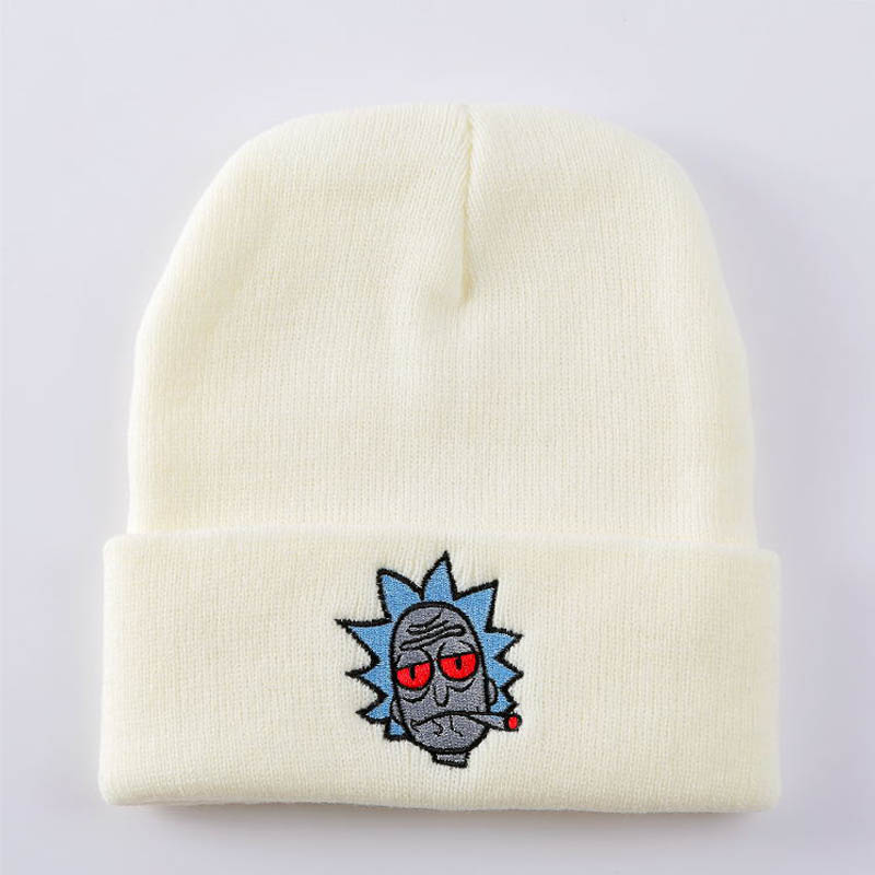 Hats/Caps Embroidery Cartoon Knitting Beanies For Men Women Ladies Solid Slouchy Skullies Beanie Skating Hip Hop Cap