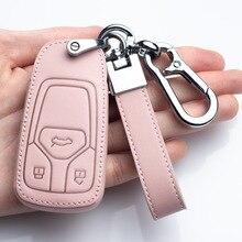Nieuwe Lederen Auto Key Case Cover Voor Audi A1 A4 A5 A7 A8 B6 B7 B8 B9 Tt Tts 8S SQ5 A4L A6L Q3 Q7 S5 S6 S7 Bescherming Accessoires