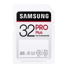 SAMSUNG-tarjeta SD Pro Plus de 32GB, tarjeta de memoria flash de 64GB, 128GB, 256GB, Clase 10, U3, para cámara de vídeo 1080p, 3D, 4K, SDXC