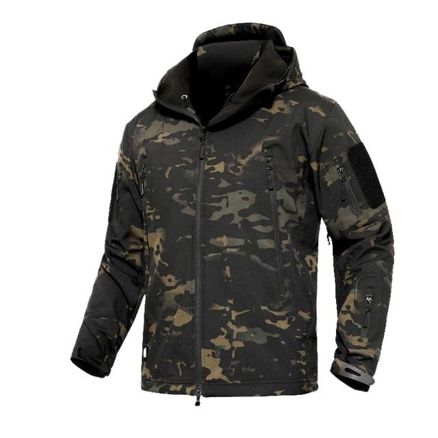 ทหารแจ็คเก็ตชายฤดูหนาวCamouflageยุทธวิธีกันน้ำWindbreaker HoodedชายCamoเสื้อPlusขนาด5XLเครื่องบินทิ้งระเบิดกองทัพชายเสื้อ