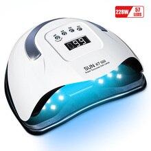 LadyMisty SUN X7 MAX 150W 57LEDS lampada per ghiaccio per unghie lampada UV per asciugatrice per Manicure per lampada per unghie a Led lampada per polimerizzazione con smalto Gel