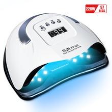 Ladymisty Zon X7 Max 228W 57Leds Ijs Lamp Voor Nagels Uv Lamp Voor Manicure Droger Voor Led Nagels lamp Gel Polish Curing Lamp