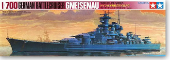 цена на Tamiya 77520 1/700 Waterline Model Kit WWII German Battle Crusier Ship Gneisenau WarShip Toy Plastic Assembly Building Model Kit