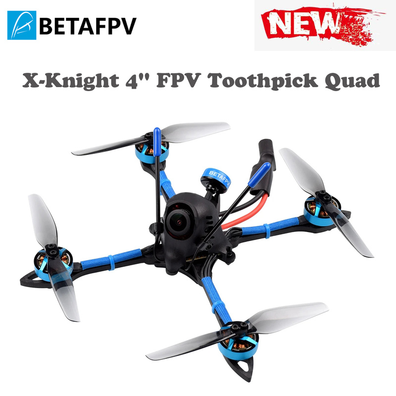 X-Knight 4'' FPV Toothpick Quad With 20A Toothpick F4 2-4S AIO FC 1505 3600KV Brushless Motors A01 25-200mW 5.8GVTX 4 Inch Frame
