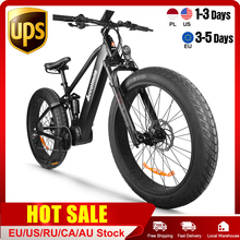 Bafang 1000W 9 Speed 26x4.0 Fat bike Mountain Bike Snow Bicycle Shock Suspension Suspension