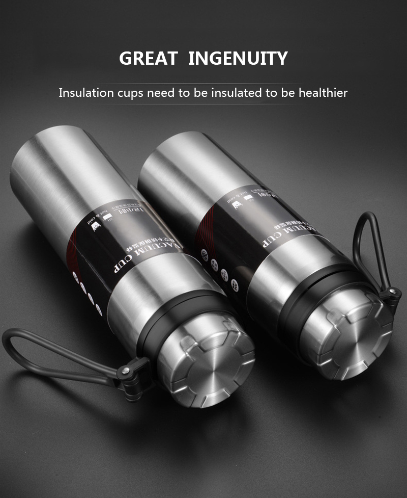 H1c3cc680ffcf499bbcc6e9b2de3abe260 Sports bottle 800ML / 1000ML large capacity double stainless steel thermos outdoor travel portable leak-proof car vacuum flask