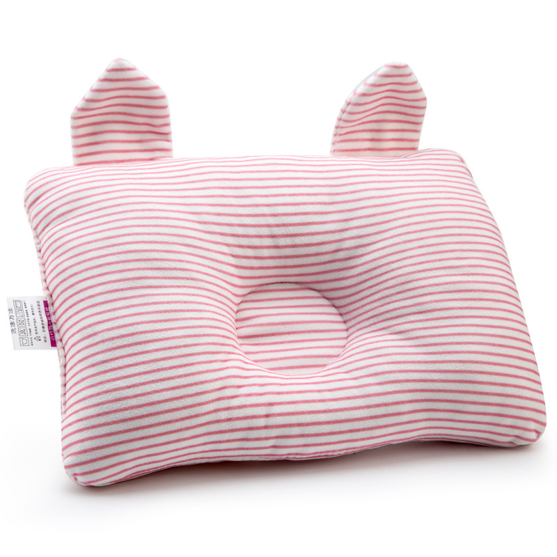 Baby Pillow Head Finalize Cotton Newborn Bedding Infant Concave Cartoon Neck Protection Cushion Girl Clothes Decoration Room