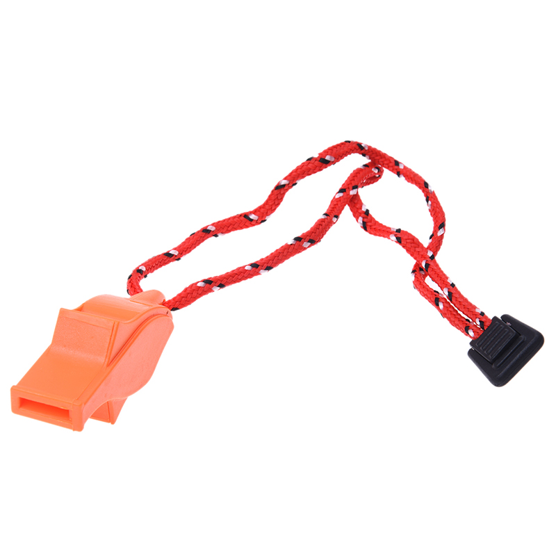 Outdoor Survival Bright Orange Dolphin Safety Emergency Whistle