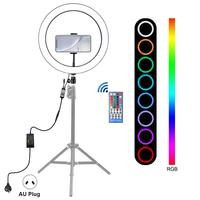 Photography LED Selfie Ring Light 12 in Adjustable Metal Camera Phone Ring Lamp with Stand Tripods for Makeup Video Live Studio
