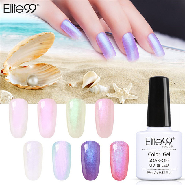 Elite99 10ml Shell Gel Polnischen Perle UV Gel Nagellack Hybrid Lack Meerjungfrau Lack GelLak Nail art Gel Polnisch maniküre