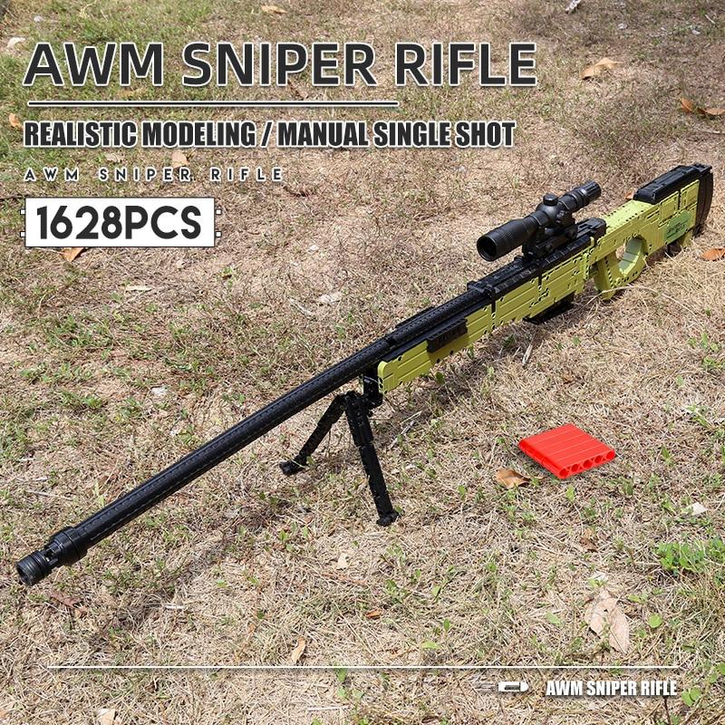 MOULD KING 14010 The MOC AWM Sniper Rifle Model