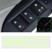 Botão interruptor da janela da porta do carro etiqueta luminosa para lexus is es gs gx ls500h nx rx lx lc rc 200 250 570