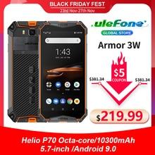 "Ulefone móvil Armor 3W, 6GB + 64GB, helio P70, 10300 ""FHD, 6GB RAM, 64GB rom, Android 9, teléfono móvil resistente al agua IP68, con batería de 5,7 mAh"