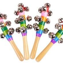 Красочная Радужная ручная палочка с колокольчиком деревянная перкуссия музыкальная игрушка для KTV Вечерние игры для детей