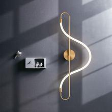 Artpad скандинавские бра большой размер 22 Вт золотой настенный
