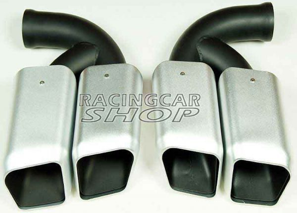 Short Pipe Exhaust Tips Square Muffler Ends Fit For Porsche Cayenne V8 2011-2014 1pair T054W 2