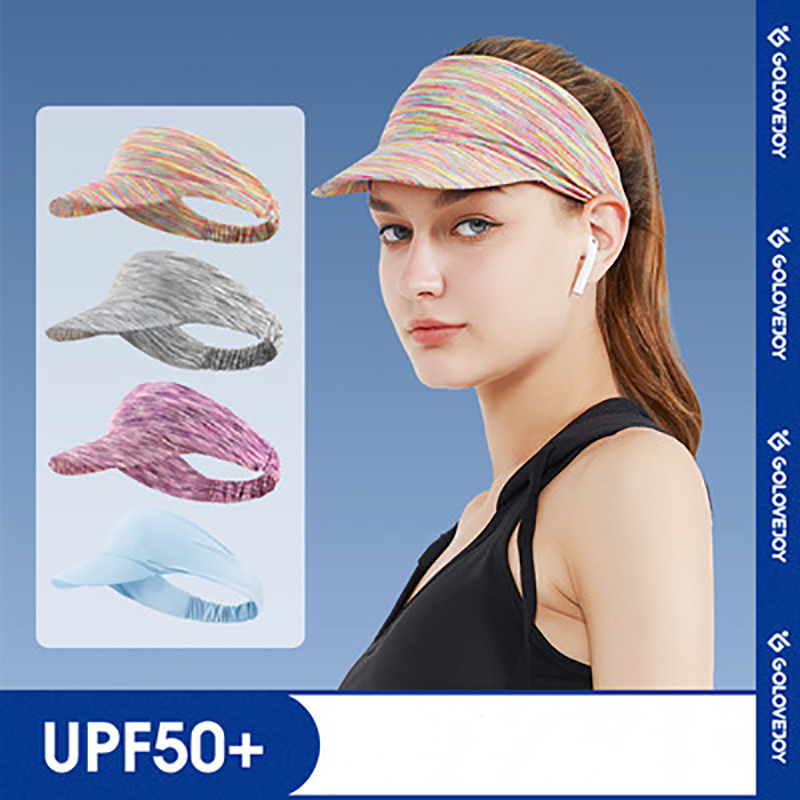 Summer sports headband empty top cap summer outdoor sunscreen and sunscreen breathable riding and running cap for men and women