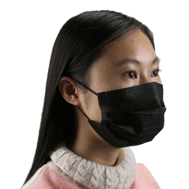 10/20/50/100Pcs Mouth Mask Disposable Black Cotton Mouth Face Mask Mask Non-woven Mask Earloop Activated 1