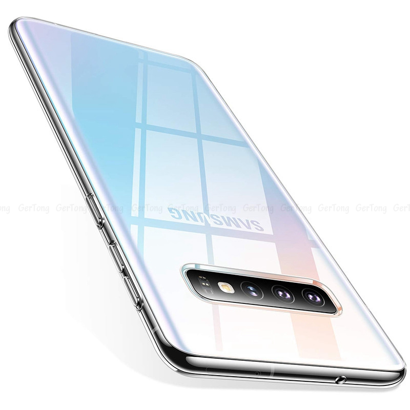 Luxury TPU Case For Samsung S10 Plus S10e Cases Ultra Thin Transparent Back Cover For Samsung Galaxy S 10+ 10e Soft Silicon Capa